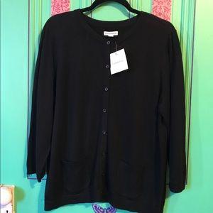 Croft & Barrow black cardigan size Large